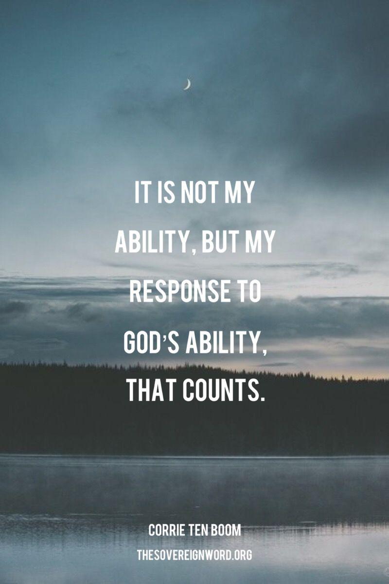 Corrie ten Boom christian faith ability truth