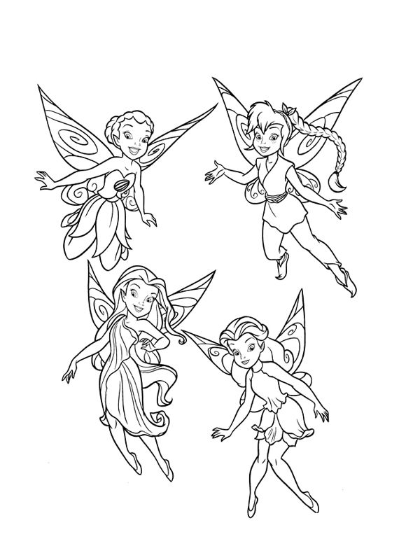 Periwinkle And Tinkerbell Coloring Page For Kids : Periwinkle And ...