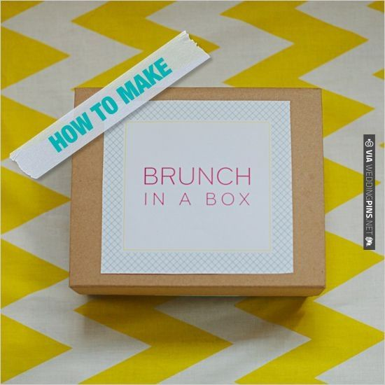 How to make brunch in a box | CHECK OUT MORE IDEAS AT WEDDINGPINS.NET | #diyweddings