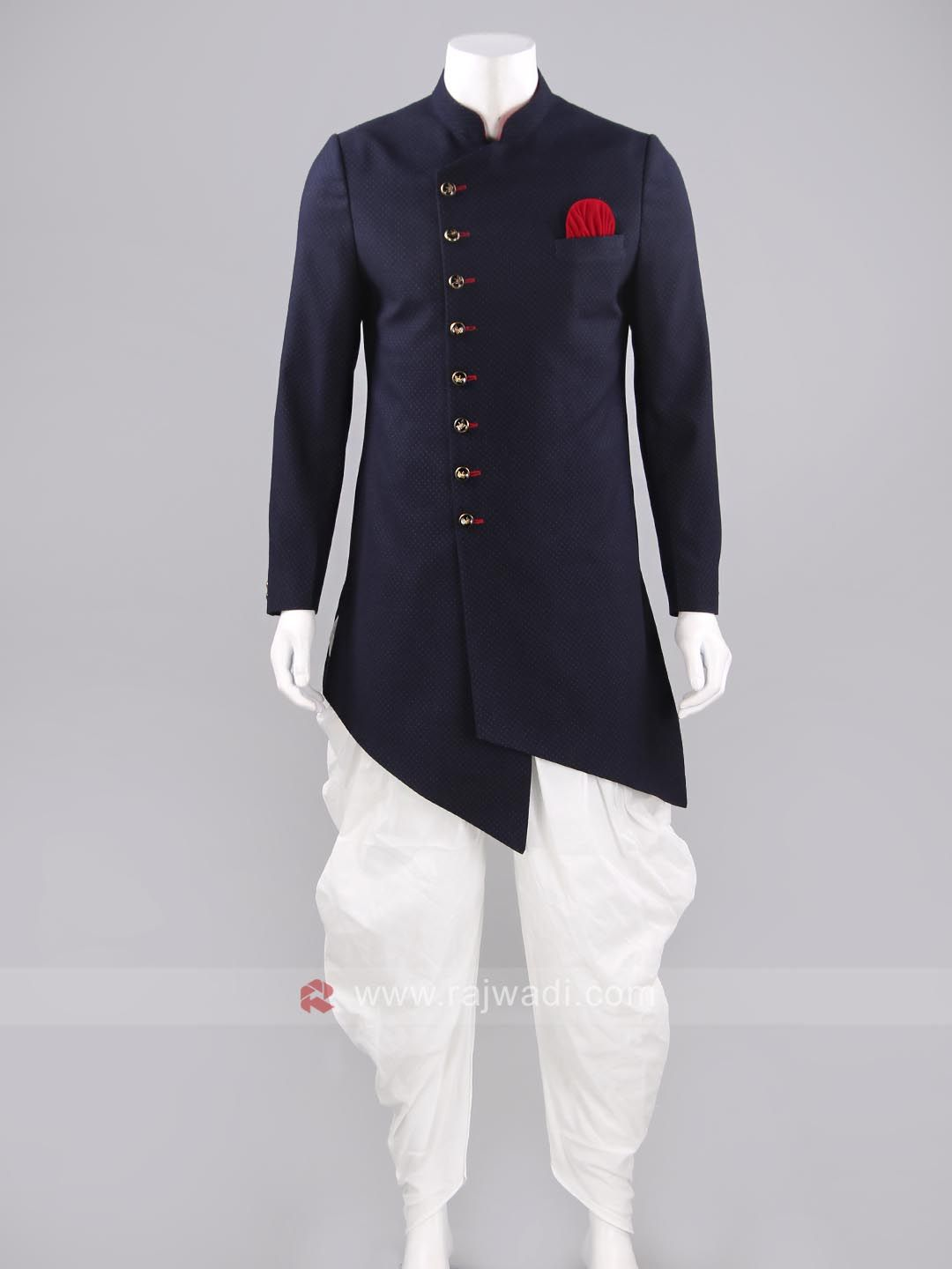 Imported material navy color indo western men mens fashion
