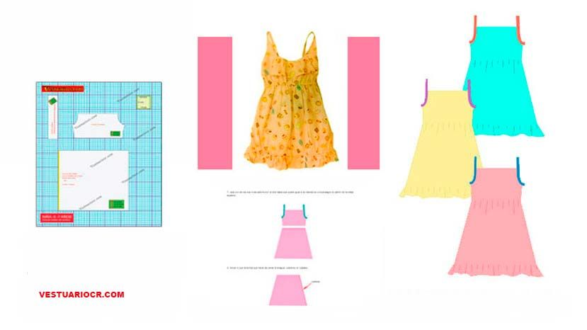 Como hacer un vestido de tirantes para niñas 3 a 5 años | Patron ...