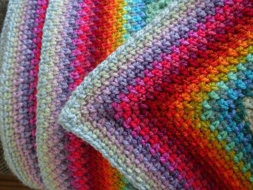 Linen Stitch Edging By Lucy Of Attic24 Linen Stitch Crochet Linen Stitch Easy Crochet Blanket