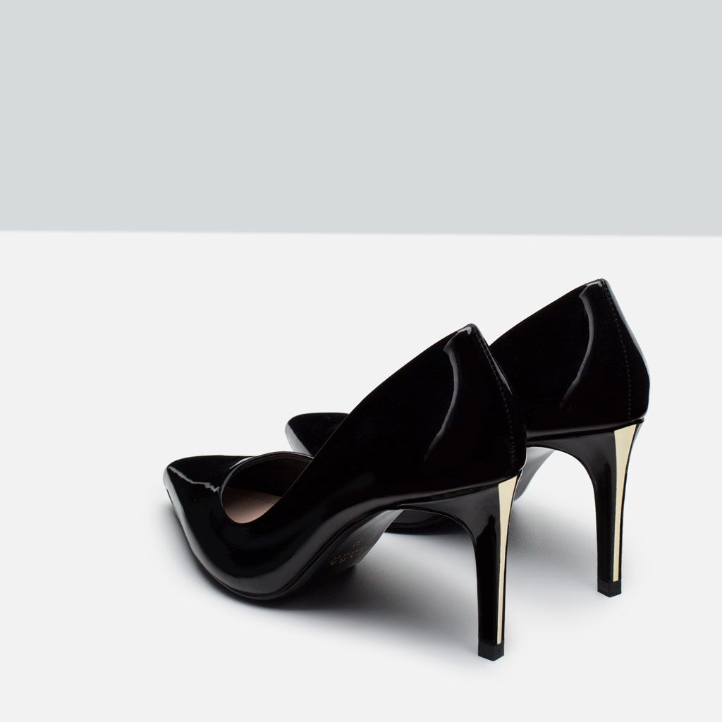 Image 3 Of High Heel Shoes With Metal Detail From Zara