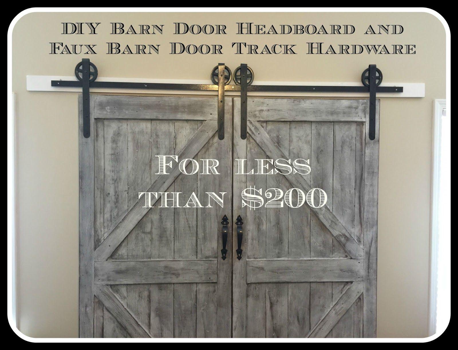 Barn door hardware rlp v track rectangular hanger reclaimed lumber - Cheaper And Better Diy Barn Door Headboard And Faux Barn Door Track Hardware