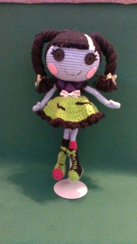 Amigurumi crochet Lalaloopsy Stitch 'n Sew doll from etsy.com