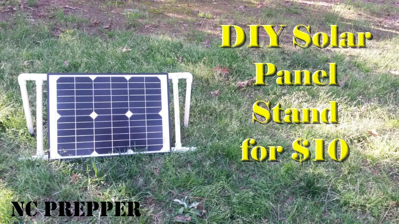 Diy Portable Solar Panel Stand For Under 10 Portable Solar Panels Diy Solar Panel Solar Panels