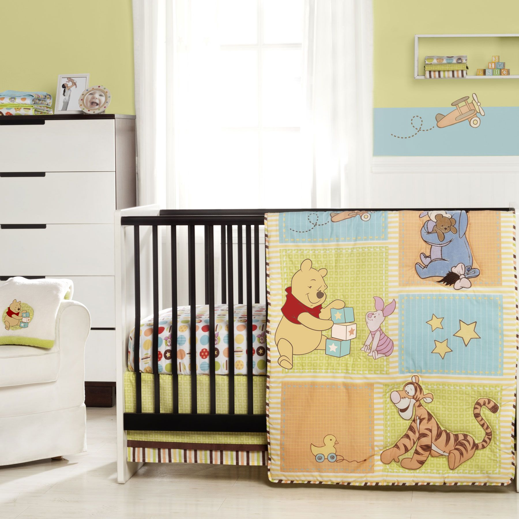 Winnie The Pooh Tidy Time 3 Piece Crib Bedding Set Baby