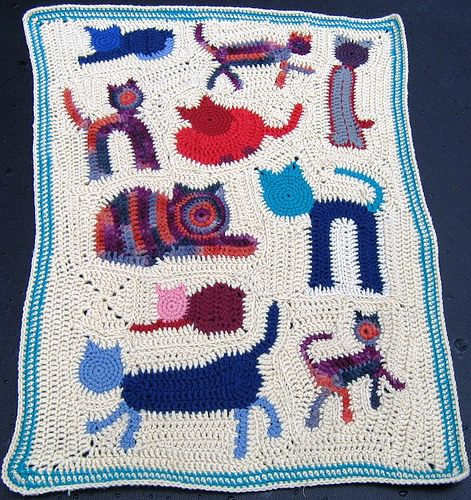 Reader Request – A Cat Afghan to Crochet – 7 free patterns ... | 500x471
