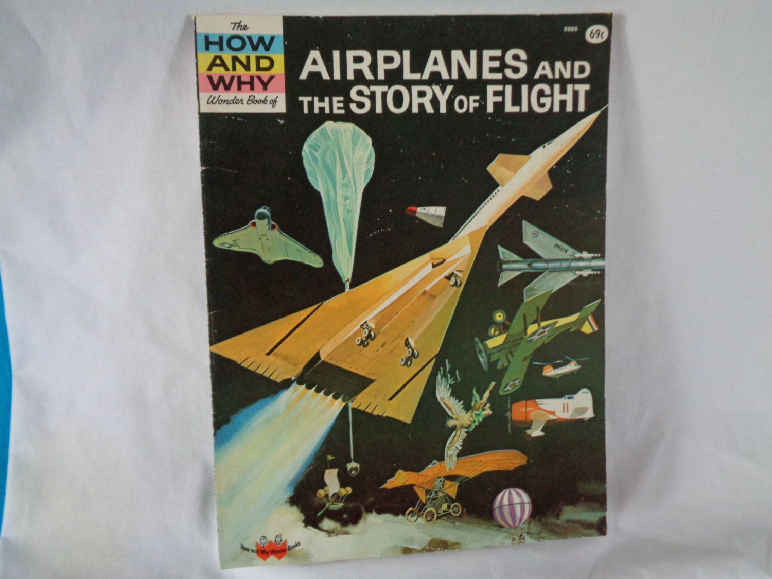 vintage 1973 The How and Why Wonder Book of Airplanes and the Story of Flight book by Harold Joseph Highland by TheVintageKeepers on Etsy