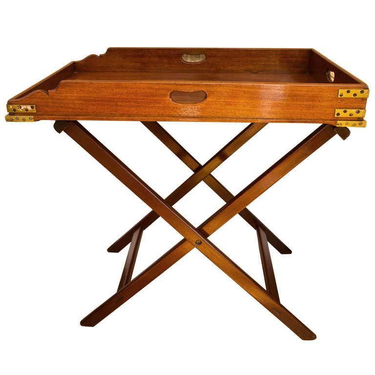 Antique Butleru0027s Tray Table