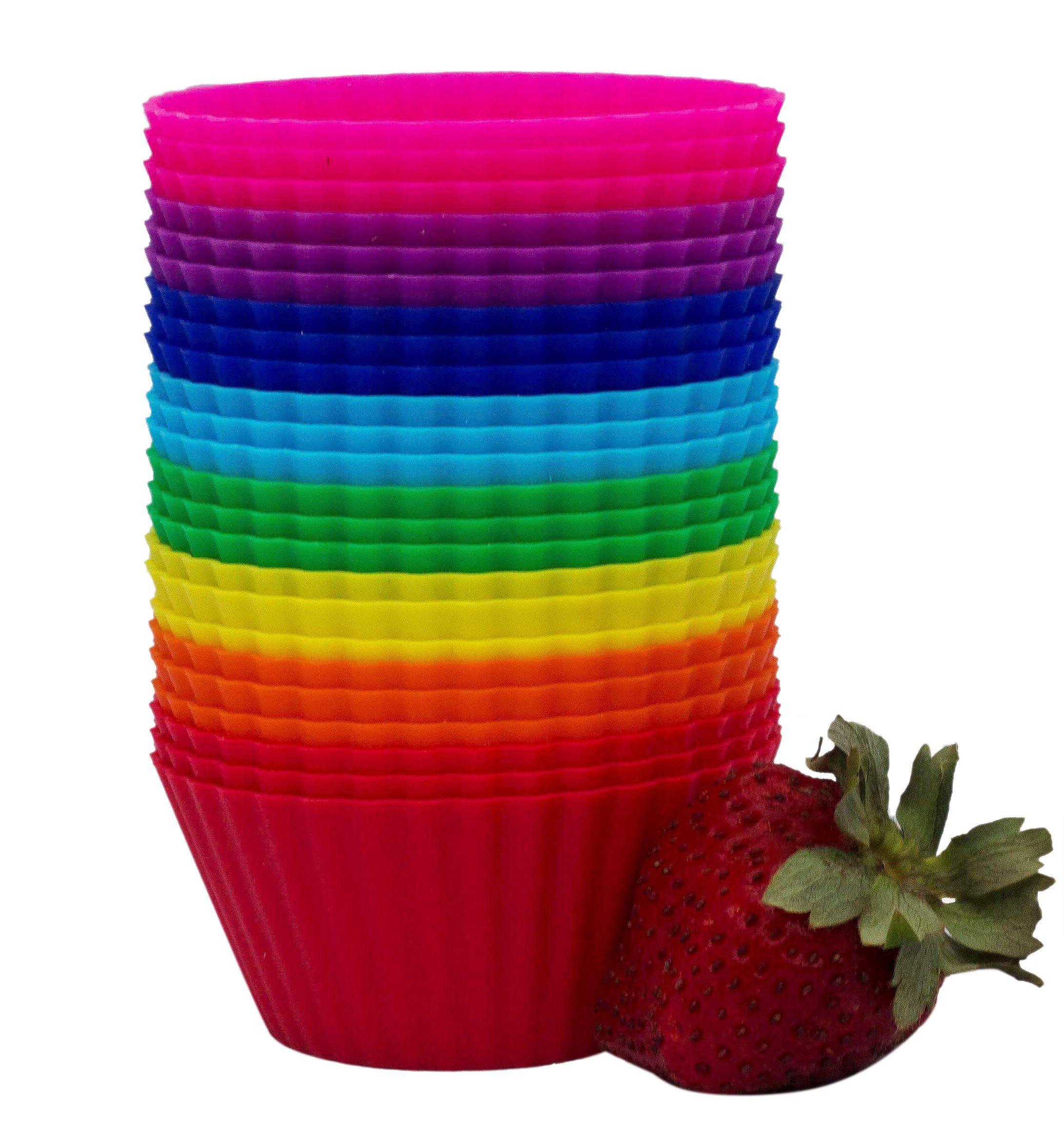 Amazon Com Premium Silicone Baking Cups Set Of 24 Reusable