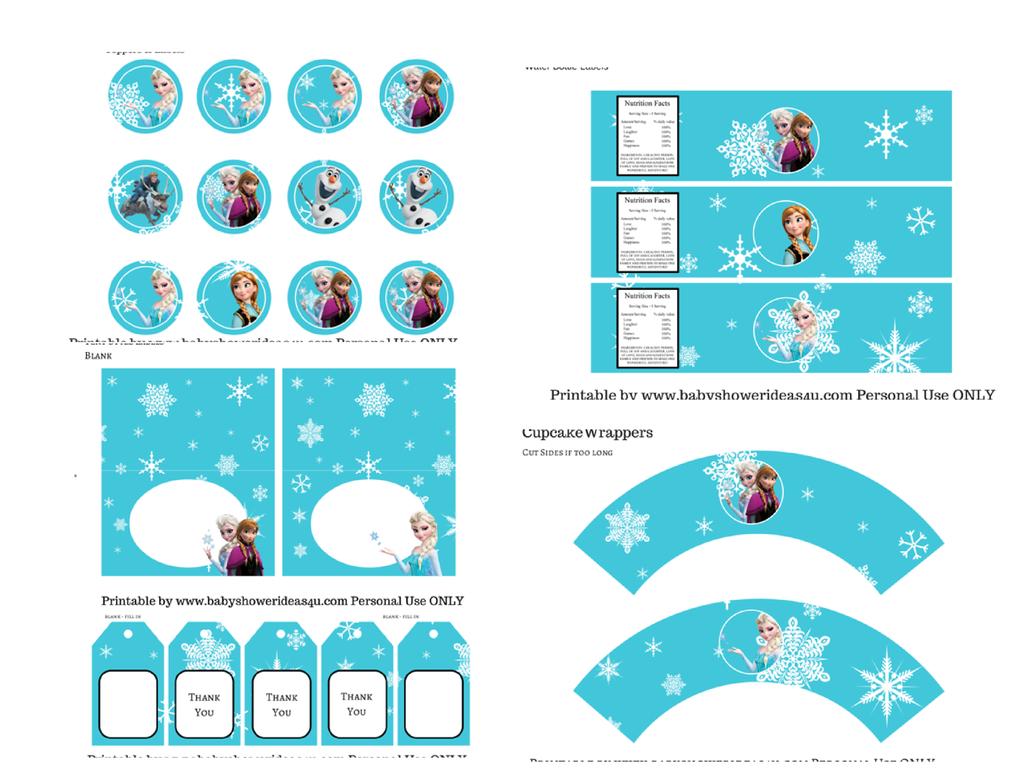 Frozen Kit para Imprimir Gratis. (OH MY FIESTA!) | Frozen party ...