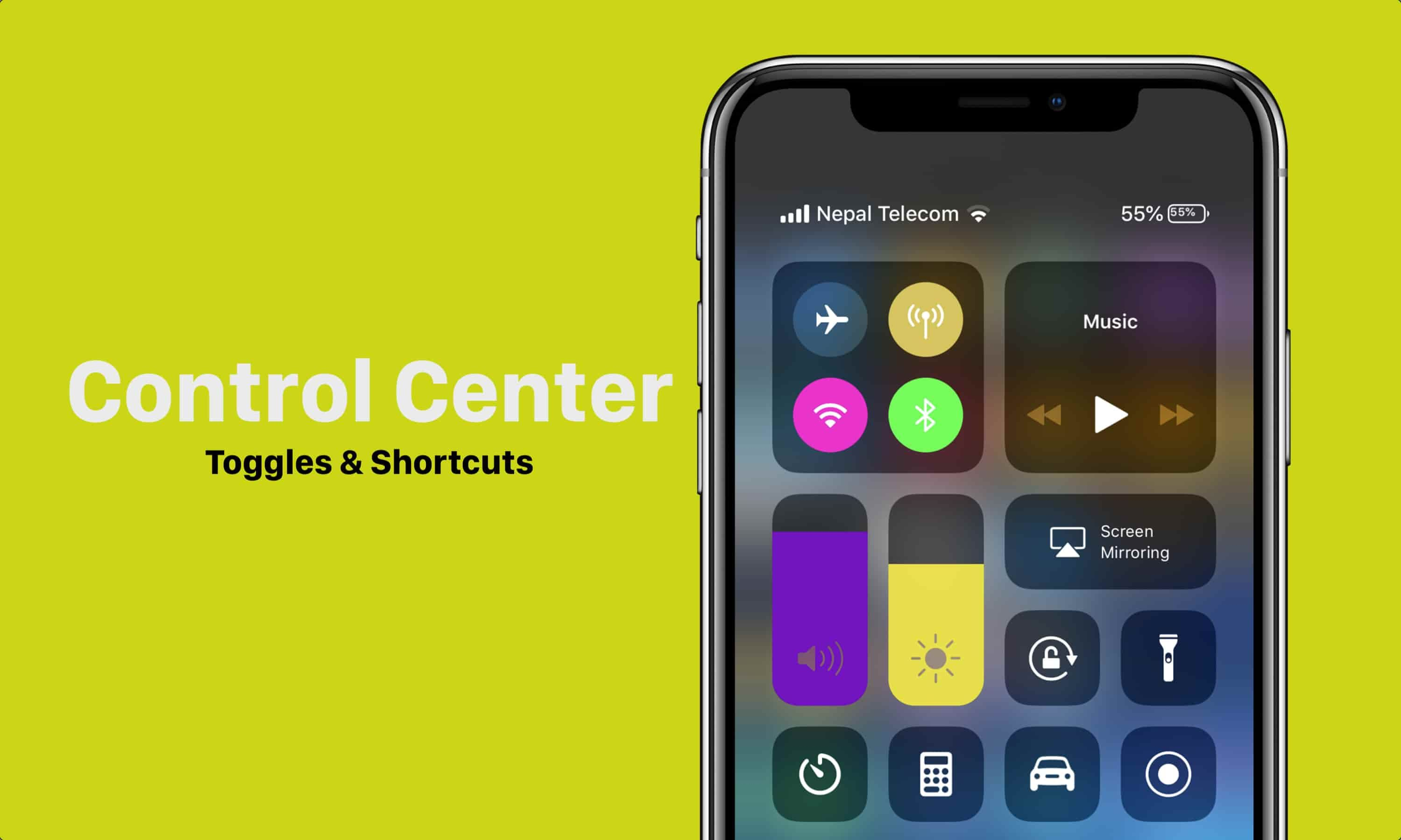 How To Get Colorful Control Center on iPhone and iPad