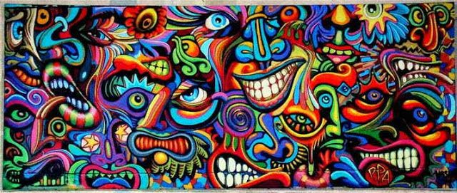 Sam Woolfe Shaka Marchal Mithouard Psychedelic Graffiti Artist Mentalisme Art