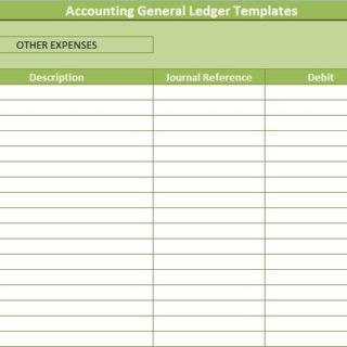 Accounting General Ledger Templates  Financial Management