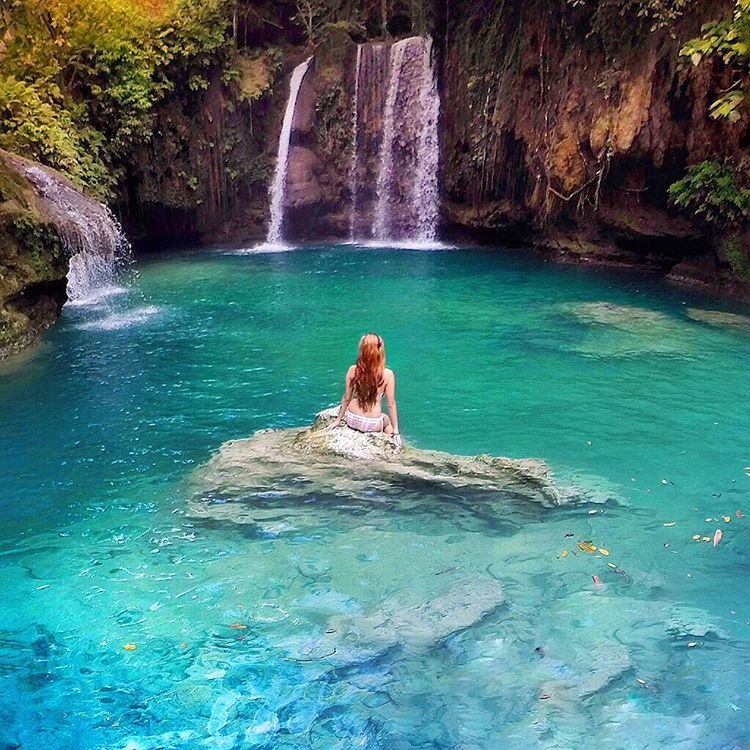 mermaid pools be like badian cebu philippines waterfalls
