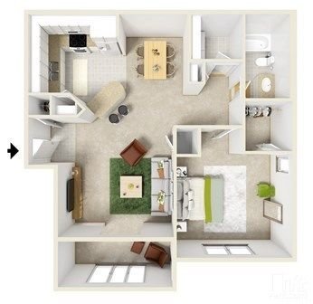 Haddon Place One Bedroom House Plans Apartment Layout Apartment Floor Plans