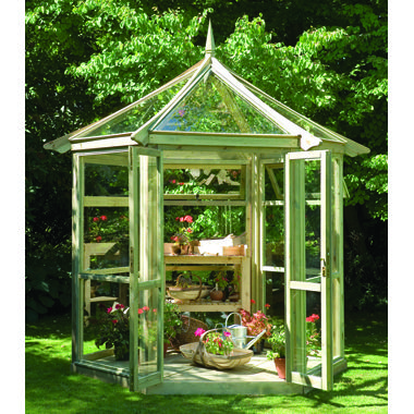 Gardeneco Hexagonal Wooden Greenhouse | Hexagonal Wooden ...