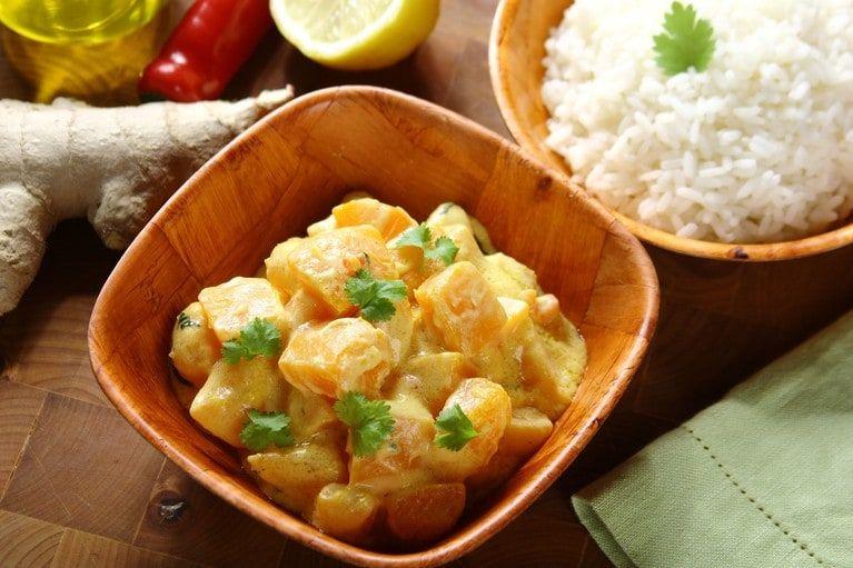 Dynia Z Mlekiem Kokosowym Video Przepis Zobacz Na Przepisy Pl Recipe Food Meat Shrimp