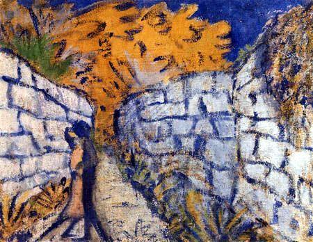 Otto Müller - Lovers between Garden Walls