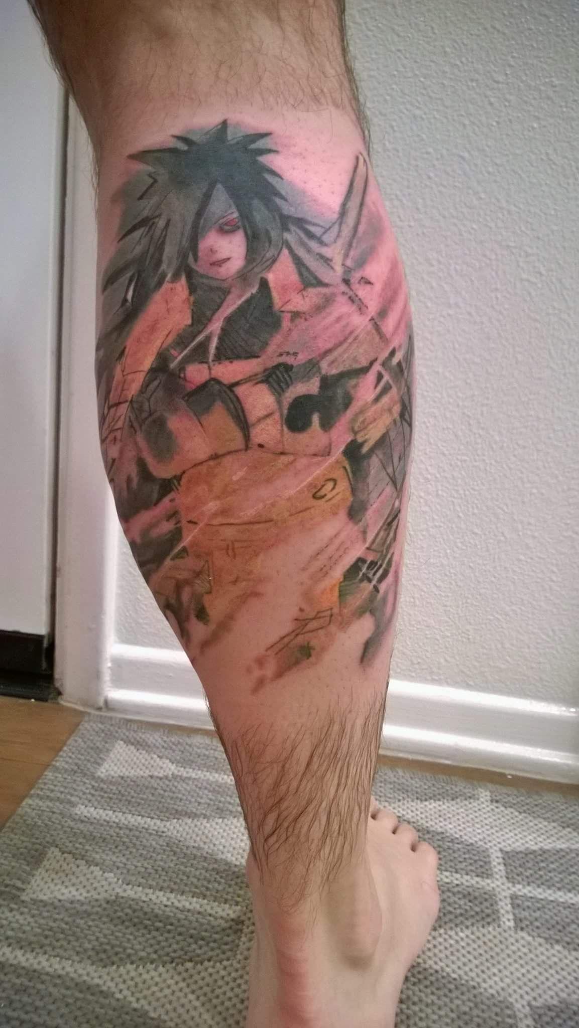 Uchiha Madara Tattoo Naruto Shippuuden Tattoo Tattoos Anime Naruto