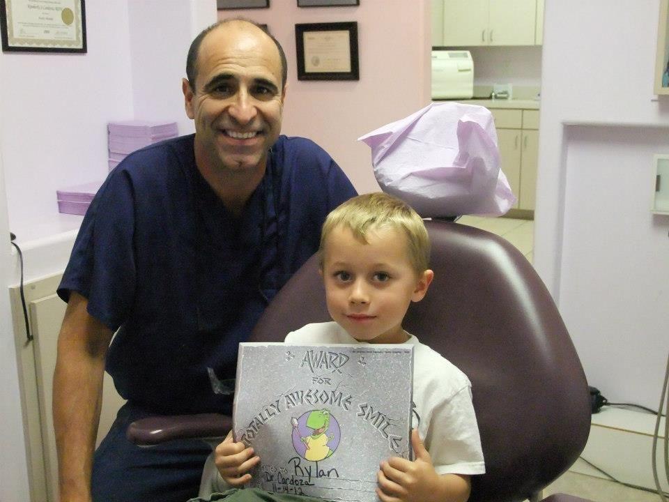 Rylan had a great checkup today. No cavities