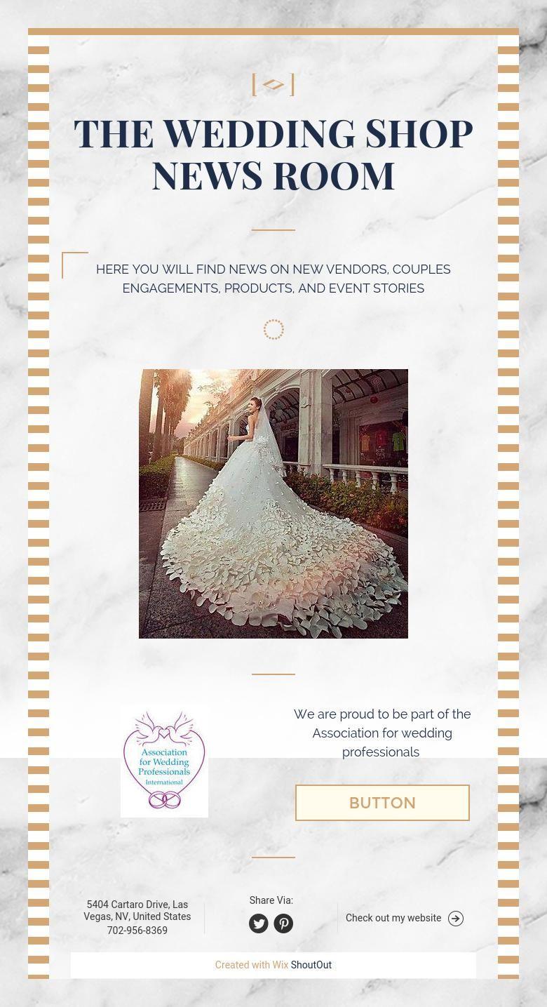 THE WEDDING SHOP NEWS ROOM