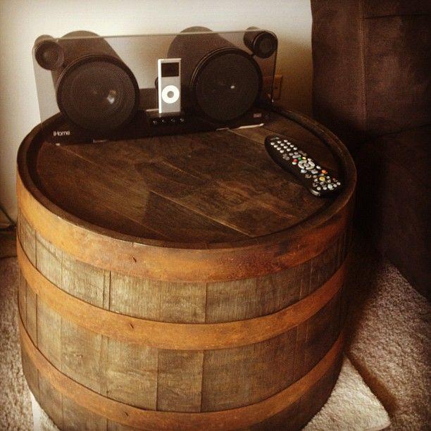 Homemade Whiskey Barrel End Table 23