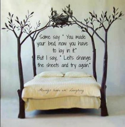 You Made Your Bed Now You Have To Lay In It But Better Yet Let S Change The Sheets And Try Again Bed Home Fairytale Bedroom