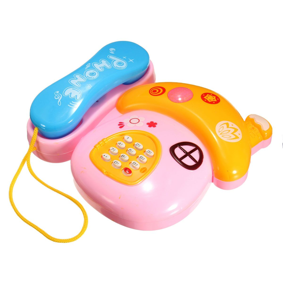 Fashion Electronic Musical Phone Interactive Mobile Talking Learning Sound Children Kid Baby Early Education Toy Inf Baby Toys Electronic Toys Educational Toys