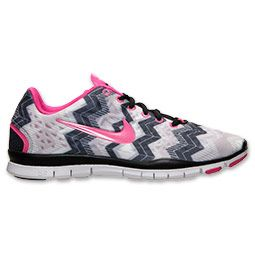 Women's Nike Free TR Print 3 Cross Training Shoes | FinishLine.com | Black/