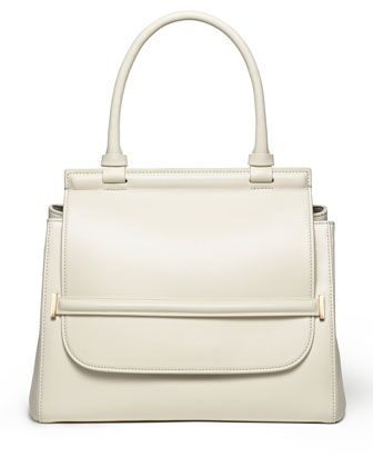 Smooth Leather Top-Handle Medium Satchel Bag, White by THE ROW at Bergdorf Goodman.