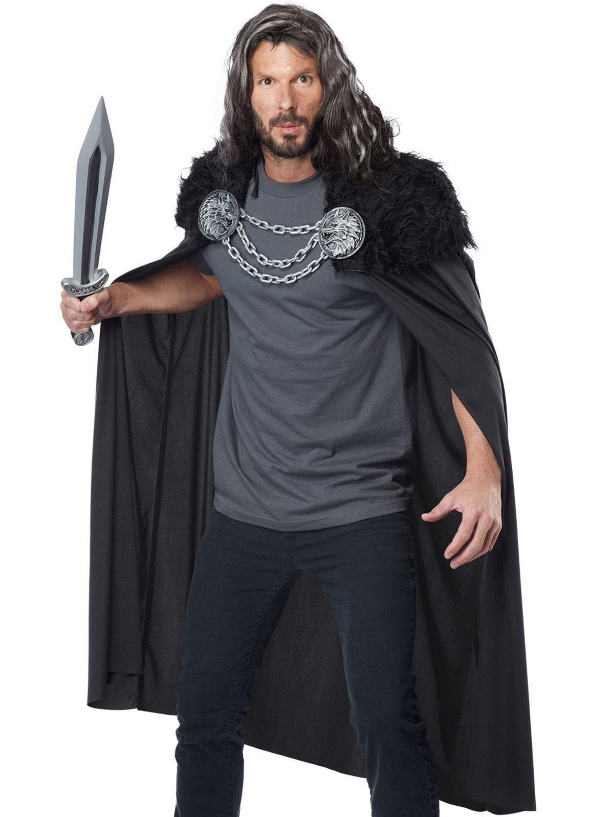 2d93955860c Wolf Clan Warrior Cape Mens Costume in 2019 | Game of Thrones Party ...