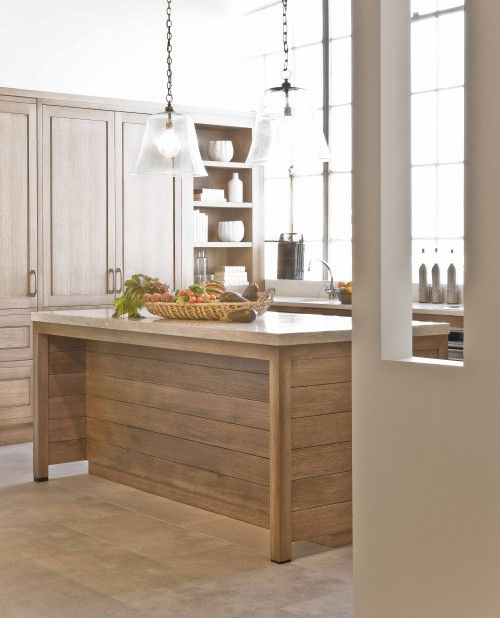 White Oak Kitchen Cabinets: Horizontal Planks On Kitchen Island, But I Want It In