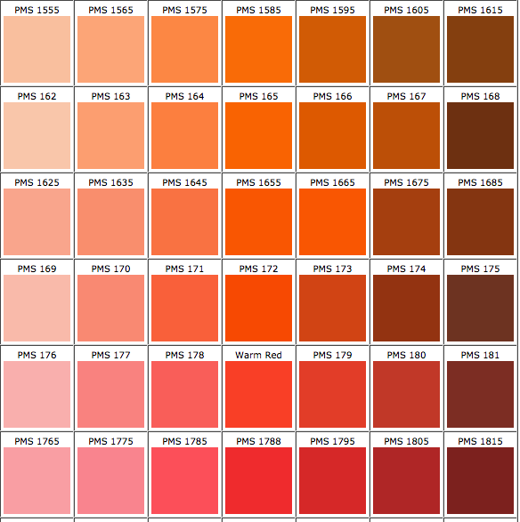 Really Accurate Online Pms Color Chart Work Stuff Pinterest