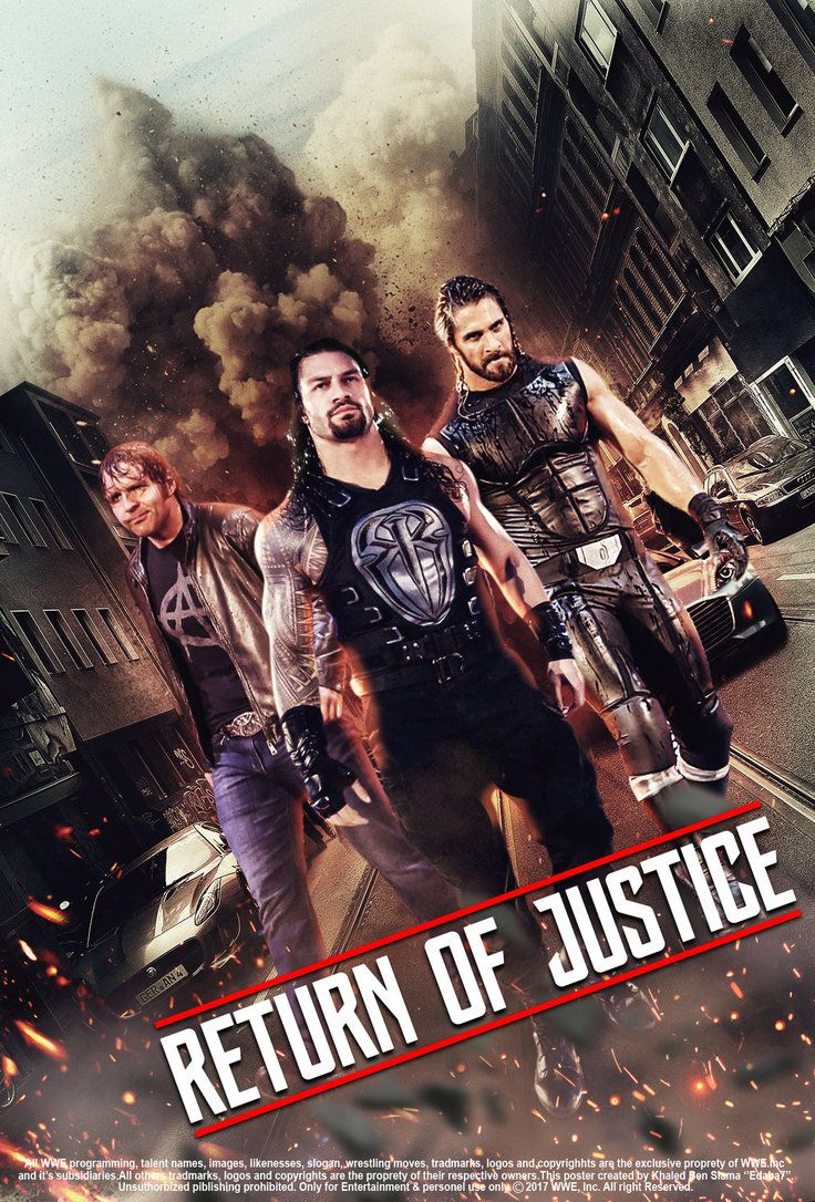 WWE The Shield 2017 Return Of Justice Poster by edaba7 ...