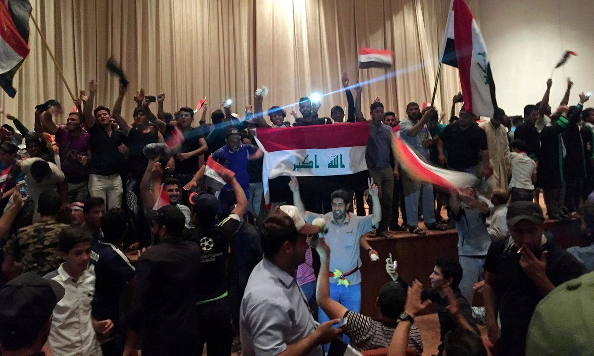 Baghdad state of emergency declared after protesters storm
