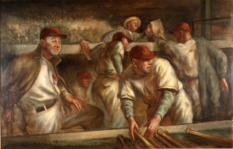 In the dugout paul clemens wisconsin federal art for American mural project