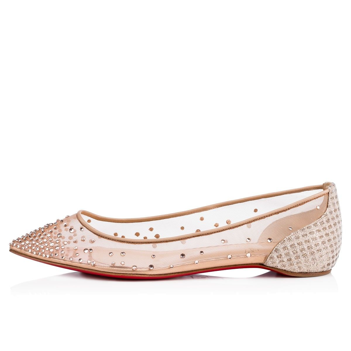 8fb7d53e21e4 Shoes - Follies Strass Flat - Christian Louboutin