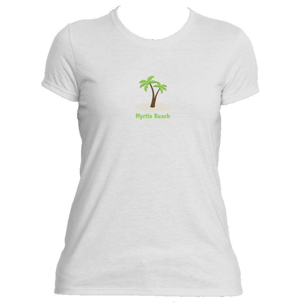 Myrtle Beach, South Carolina Palm Tree - Women's Moisture Wicking T-Shirt