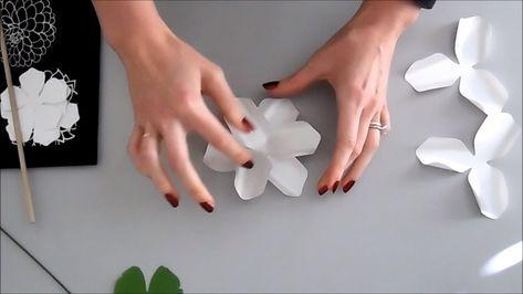 Paper Gardenias, Paper Flower Gardenias, Flower Templates, Paper Flower SVG, DIY Small Paper Flowers, Printable PDF Templates #easypaperflowers