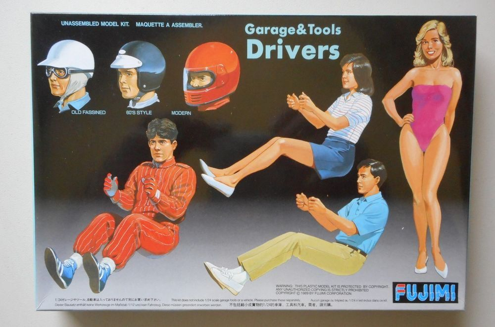 Drivers Figures 1 24 1 25 Car Model Accessory Plastic Model Kit Fujimi 11004 Fujimi Plastic Model Kits Model Kit Car Model