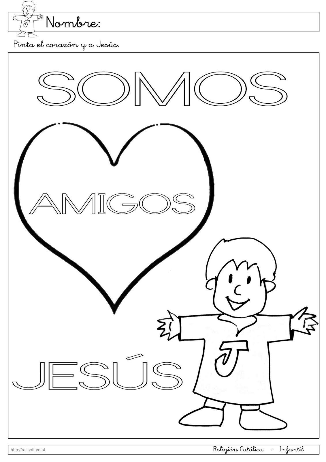 Recursos Religion Católica Fichas Infantil 3 Años Escuela Bíblica