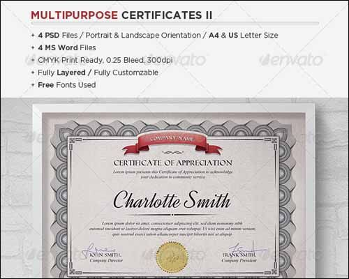 75+ Best Most Popular Certificate Diploma Templates Certificate - microsoft word certificate borders
