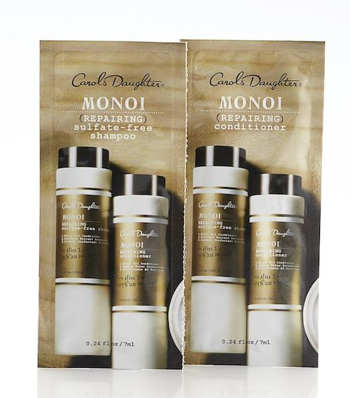 EXPIRED. Sneak peek #3! Monoi Repairing Shampoo & Conditioner by Carol's Daughter are two more awesome products included in our upcoming Total Beauty Collection for HSN. These sulfate-free products undo and prevent breakage by up to 96%, and are gentle enough for even the most fragile hair. Re-pin it to win it! #TotalBeautyHSN