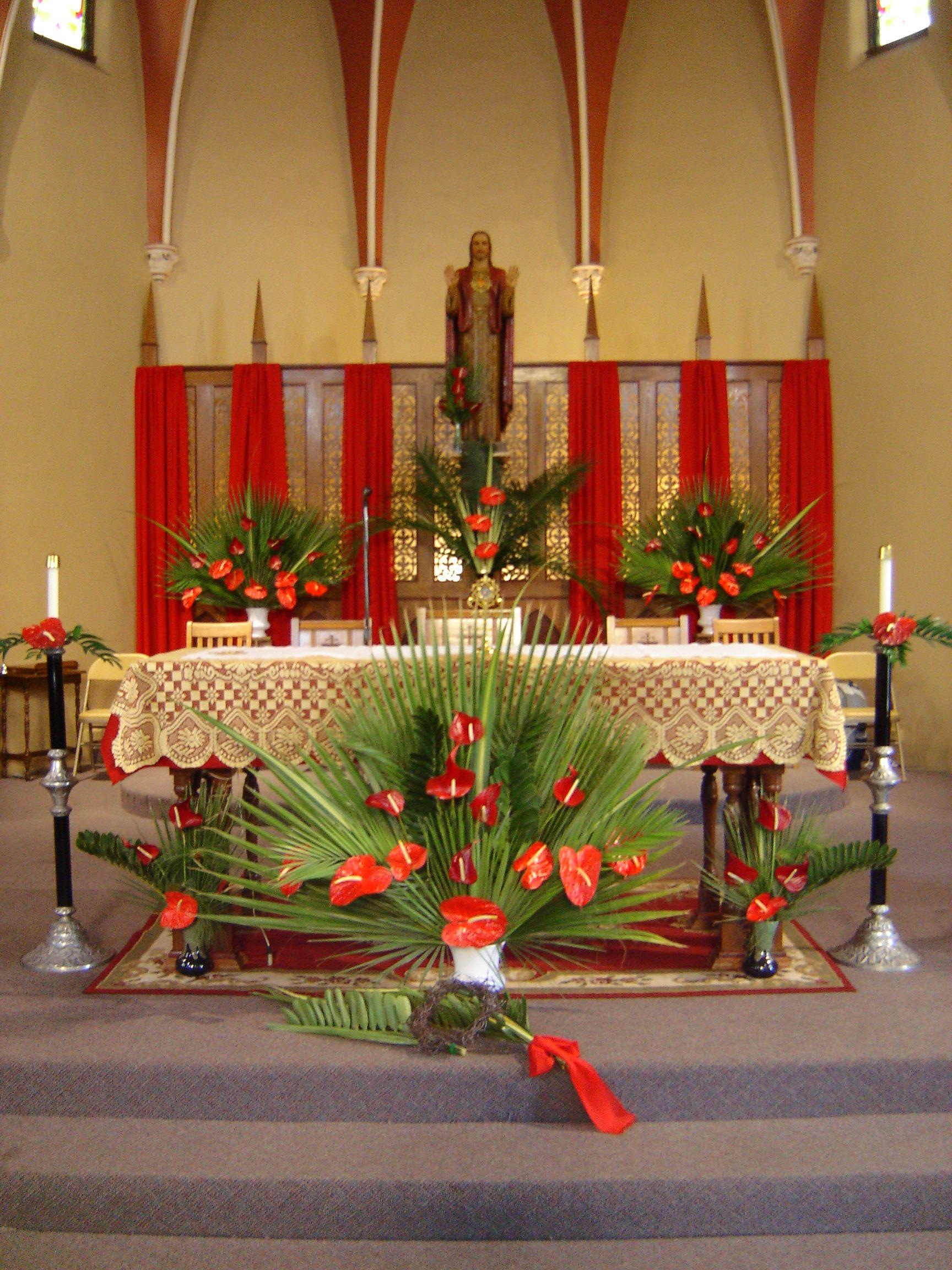 Church altar decorations decoration love church decor for Altar decoration