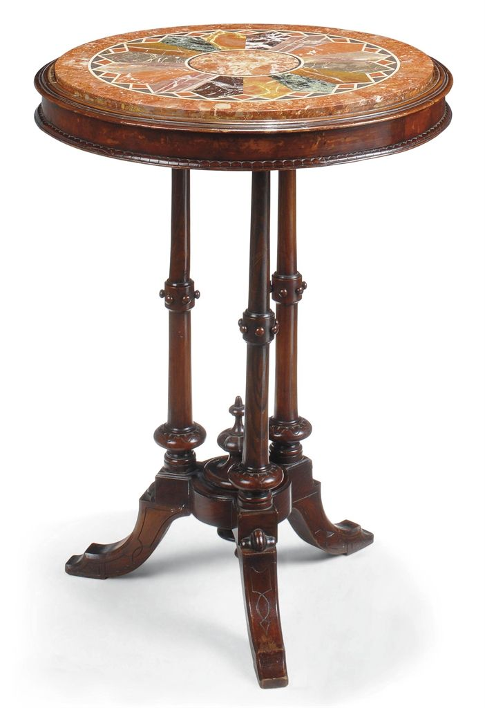 A LATE VICTORIAN WALNUT AND SIMULATED ROSEWOOD OCCASIONAL TABLE -  LATE 19TH CENTURY