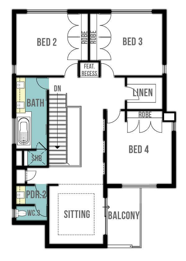 Retreat double storey house plans (first floor) by Boyd Design Perth ...