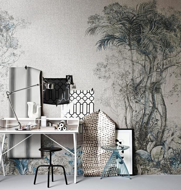 Tapeten Fur Puristen Muster In Grau Weiss Und Schwarz Tapete Wohnzimmer Schlafzimmer Tapete Tapeten Wohnzimmer Modern
