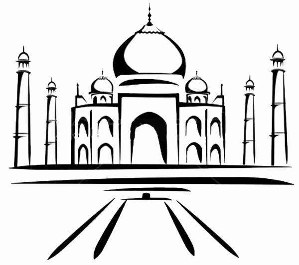 Taj Mahal Coloring Page Inspirational Painting Of Taj Mahal